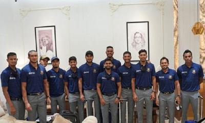 নিরাপদেই ওমানের রাজধানীতে গিয়ে পৌঁছেছে বাংলাদেশ ক্রিকেট দল